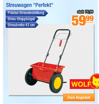 "Wolf Garten Streuwagen                                             ""Perfekt"""