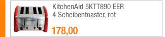 KitchenAid 5KTT890 EER                                             4 Scheibentoaster, rot
