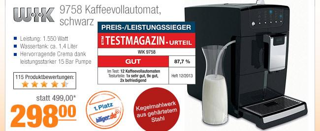 WIK 9758                                             Kaffeevollautomat, schwarz