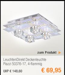 LeuchtenDirekt                                             Deckenleuchte Piazzi                                             50376-17, 4-flammig