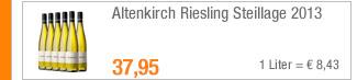 Altenkirch Riesling                                             Steillage 2013