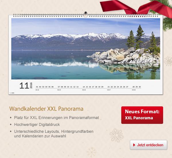 Tipp: Entdecken Sie die                                             den XXL Panorama                                             Wandkalender