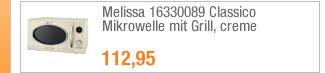 Melissa 16330089                                             Classico Mikrowelle mit                                             Grill, creme