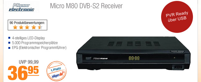 Micro M80 DVB-S2                                             Receiver