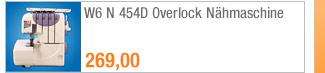 W6 N 454D Overlock                                             Nähmaschine