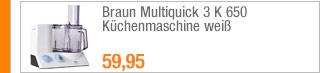 Braun Multiquick 3 K                                             650 Küchenmaschine weiß
