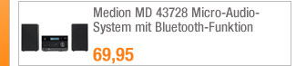 Medion MD 43728                                             Micro-Audio-System mit                                             Bluetooth-Funktion