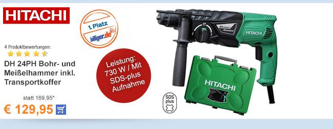 Hitachi DH 24PH Bohr-                                             und Meißelhammer inkl.                                             Transportkoffer