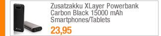 Zusatzakku XLayer                                             Powerbank Carbon Black 15000                                             mAh Smartphones/Tablets