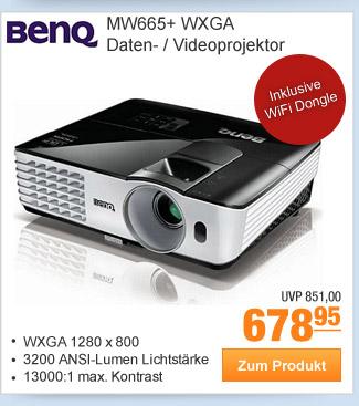 BenQ MW665+ WXGA Daten-                                             / Videoprojektor