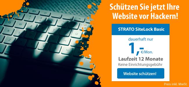 Mehr Sicherheit für Ihre Website mit STRATO SiteLock!