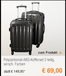 Polycarbonat-ABS-Kofferset                                             2-teilig, versch. Farben