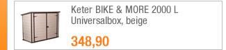 Keter BIKE & MORE                                             2000 L Universalbox, beige