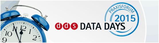 Das DDS Data Days Praxisforum 2015 findet am 11. und 12. November 2015 im Kunstwerk Durlach statt.