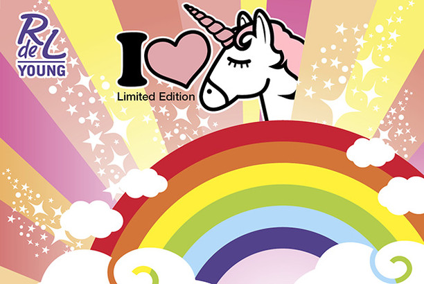 "RdeL Young ""I ❤ unicorn"""