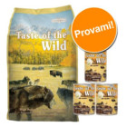 SCONTO FINO AL 10%! - Set prova Taste of the Wild (6 kg + 3 x 374 g) >>