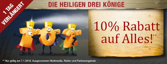 Verlängert: 10 % auf                                             Alles!