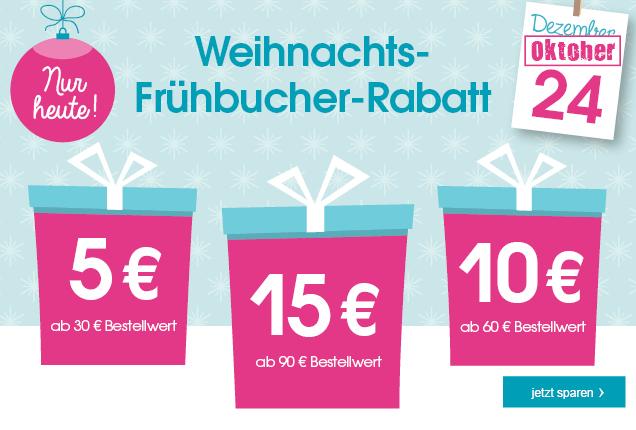 Weihnachts-Frühbucher-Rabatt bei babymarkt.de - nur heute