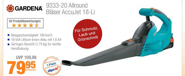 Gardena 9333-20                                             Allround Bläser AccuJet                                             18-Li