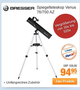 Bresser Spiegelteleskop                                             Venus 76/700 AZ