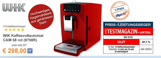 WIK Kaffeevollautomat                                             CAM 58 rot (9758R)