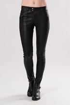 Pantalon en cuir stretch