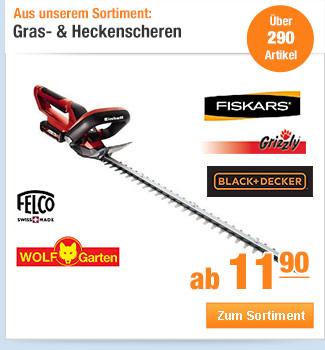 Gras- &                                             Heckenscheren
