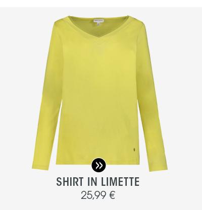 Shirt in Limette