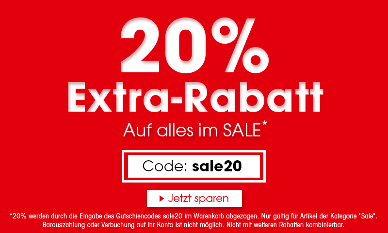 20% extra Rabatt mit dem Code: sale20