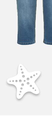 Capri-Jeans Sammy aus extra weichem Denim! Schmale 5-Pocket mit Komfortbund, Gürtelschlaufen, Knopf und Zipper.