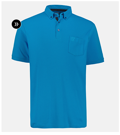 Poloshirt, Pima Cotton, Buttondown-Kragen, bis Gr. 8XL