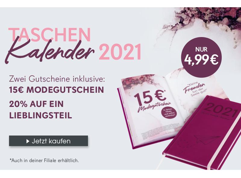 Mit diesem Taschenkalender erhältst du nicht nur die Möglichkeit deine Termine perfekt zu koordinieren, sondern du erhältst außerdem zwei Gutscheine für dein Shopping Jahr 2021