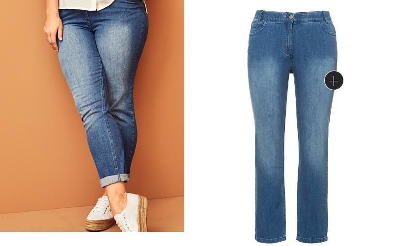 Jeans Sammy aus natürlich weicher und hochwertiger Biobaumwolle. Schmale 5-Pocket-Form, Komfortbund mit Gürtelschlaufen, Knopf und Zipper. Mit dem RICHTIG SO - WEITER SO Herz erkennst Du, dass unsere Kleidungsstücke anteilig oder sogar vollständig nachhaltig hergestellt sind.