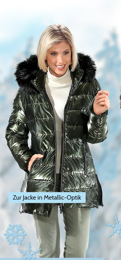 Zur Jacke in Metallic-Optik