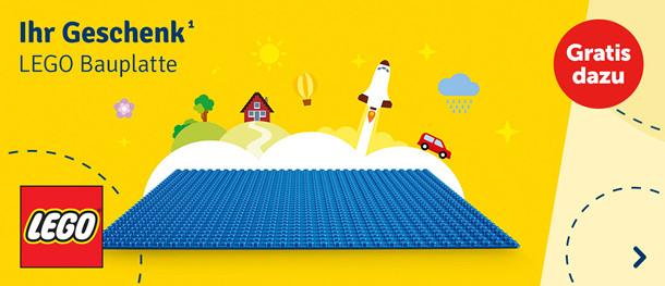 Ihr Geschenk¹: Bauplatte von LEGO