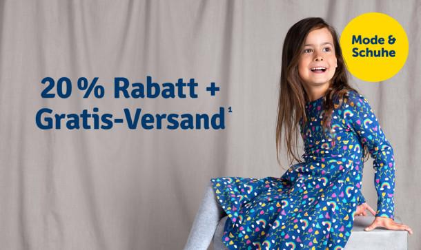 20% Rabatt + Gratis-Versand auf Mode & Schuhe¹