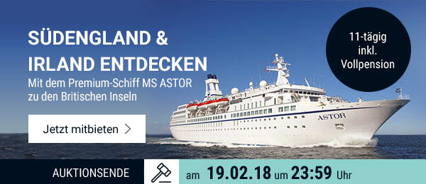 Südengland & Irland entdecken: 11-tägige Kreuzfahrt mit der MS Astor inkl. Vollpension.