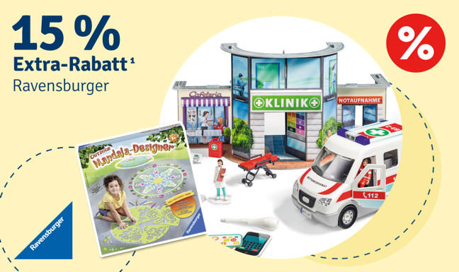 15% Extra-Rabatt auf Ravensburger¹