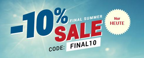 -10% Final Summer Sale