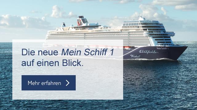 entdecken sie die neue mein schiff 1 tui cruises gutscheine deals. Black Bedroom Furniture Sets. Home Design Ideas