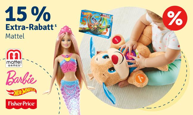 15% Extra-Rabatt auf Mattel¹