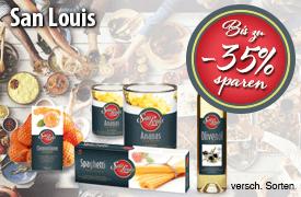 Bis zu 35 % auf ausgewählte San Louis Produkte - zum Bestellen hier klicken!