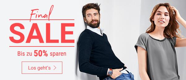 Final SALE: Bis zu 50% auf Herren- & Damenmode sparen. Jetzt shoppen!