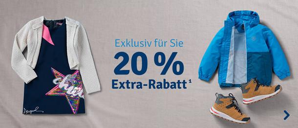 20% Extra-Rabatt¹ Mode & Schuhe