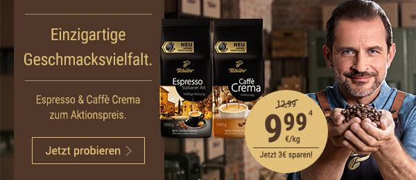 Einzigartige Geschmacksvielfalt: Espresso & Caffe Crema zum Aktionspreis von nur 9,99 € (4).