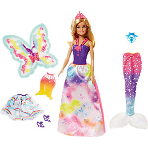 Barbie Dreamtopia Regenbogen-Königreich 3-in-1 Fantasie Puppe Geschenkset