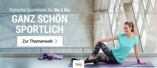 Ganz schön sportlich: Stylische Sportmode für Sie & Ihn.