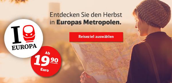 Entdecken Sie den Herbst in Europas Metropolen - ab 19,90 Euro.