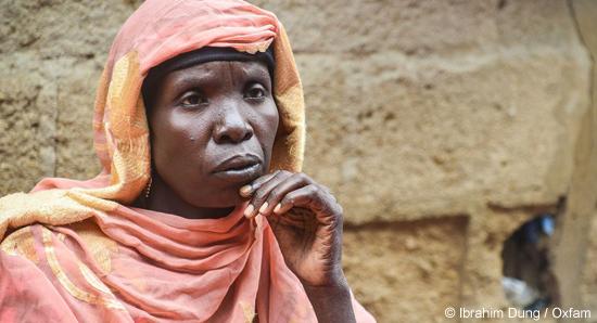 Zarah Isa und ihre sechs Kinder sind akut von der Hungerkrise in Zentralafrika bedroht.