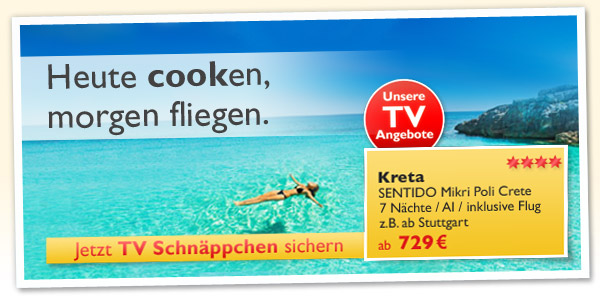 TV Angebote Kreta